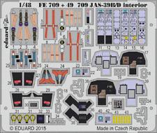 Eduard PE 49709 1/48 SAAB jas-39b/d GRIPEN interni Kitty Hawk