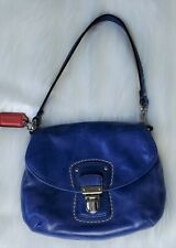 Coach Blue Leather mini bag / large wristlet 3.75 in wide 5.75 in high pouch