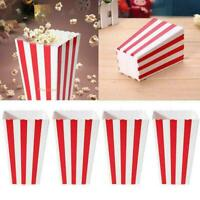 12 x Set Popcorn Striped Paper Boxes Container Box Bags Birthday Gift Y8D2