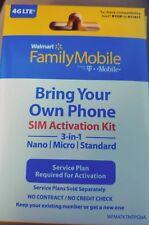 Walmart Family Mobile Starter Kit Save Sale Micro Nano Sim Card 3/1