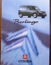 CATALOGUE PROSPECTUS PUBLICITAIRE CITROEN BERLINGO FOURGON UTILITAIRE 1996