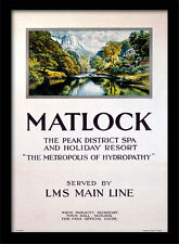 Matlock The Peak District Spa - Encadré 30 X 40 Officiel Imprimé
