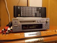 ONKYO MD Mini Disc Recorder MD-105TX Silver High Speed Audio MDLP SP JP