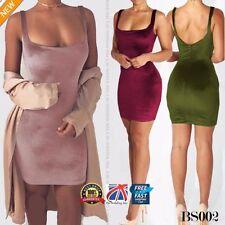 Vestidos de mujer mini sin marca de terciopelo