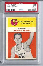 1961 Fleer Basketball #43 Jerry West Rookie Card PSA 3.5