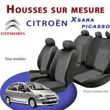 Housses Citroën Xsara Picasso Sur Mesure - Tissu Elegance Gris