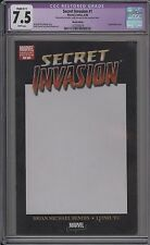 Secret Invasion #8 - Blank Con Variant - Cgc 7.5 - 1227593018