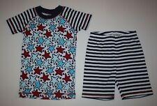 New Gymboree Gymmies 2 Piece Stars & Stripes Shortie PJs Pajamas Size 5 Year NWT