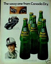 1966 Canada Dry Wink Grapefruit Soda-Pop Bottles,Caps AD
