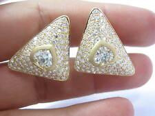 18KT SPADE SHAPE Fancy Light Yellow Diamond Yellow Gold Stud Earrings 9.70CT