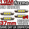 4x ERROR FREE CANBUS 3 SMD LED 37mm 239 272 C5W XENON WHITE NUMBER PLATE BULB UK