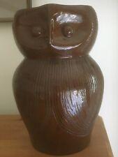 More details for large farnham pottery owl jug