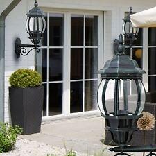 Lot de 2 Extérieur Lampe murale simple porte VERANDA éclairage aluminium verre