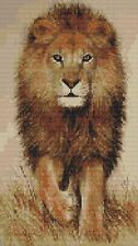 """Lion 3 Counted Cross Stitch Kit Big Cats/Wildlife 7"""" x 13"""" Animals/Insects"""