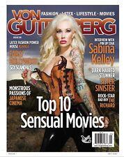 Von Gutenberg Magazine Issue 9 Fetish Fashion Latex Lifestyle Movies BRAND NEW
