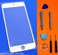 White Front Outer Screen Glass Lens Replacement For iPhone 6  -b287