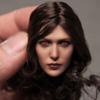 Scarlet Witch Elizabeth Olsen Head Sculpt Red Eye Ver 1/6 Fit 12'' Action Figure