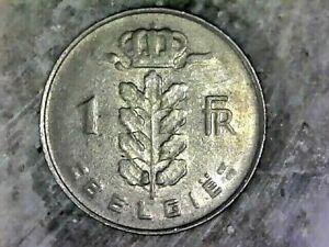 1967 BELGIUM 1 FRANC-- COPPER NICKEL COMPOSITION COIN KM# 142
