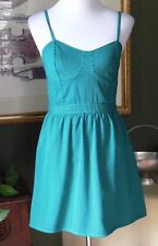 Target Mossimo Green Stripe Bustier Fit & Flare Dress S