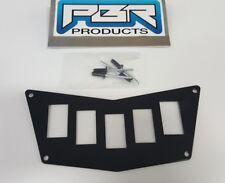 POLARIS RZR 800 900 XP 570 DASH SWITCH PLATE PANEL METAL 5 SWITCH ROCKER TOGGLE
