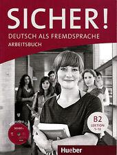 HUEBER Sicher! Arbeitsbuch B2 Lektion 1-12 MIT Audio-CD @BRAND NEW@ German