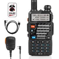 US Baofeng RD-5R DMR Tier II Digital VFO V/UHF Two way Radio + Speaker + Cable