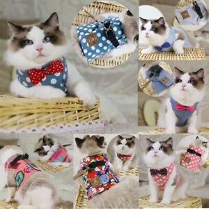 Cat Harness Leash Lead Rope Chest Strap Kitten Jacket Adjustable Vest Clothes