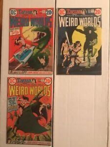 WEIRD WORLDS (DC Comics 1972) Consecutive Lot #2 3 4! FN+ John Carter!