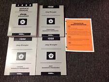 1999 JEEP WRANGLER Service Shop Repair Manual Set FACTORY W Diagnostics + Recall