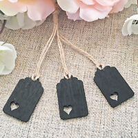 Mini Square Heart Wooden Chalkboards for Vintage Wedding Tables & Decoration