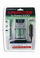 Uniross Ultra Fast Charger for AAA Batteries includes 4 AAA 2000mAh Batteries