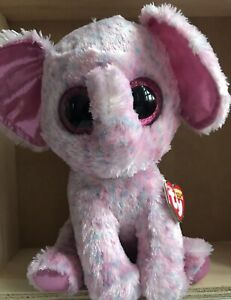 TY Beanie Boos Medium Size Ellie Elephant 20cm Bday27 August Released 14' 34108