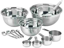 stainless steel 12PC mix bowl measuring cup measuring spoon mixing #XmasBonus