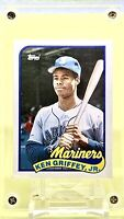 KEN GRIFFEY JR 1989 Topps Traded ROOKIE Card #41T Graded PSA 8 NM-MT Mariners RC