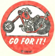 Vintage 80s Matte Trend Scratch & Sniff Sticker - Rubber Tire - Mint!!