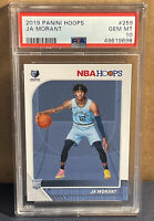 2019-20 Panini NBA Hoops Ja Morant Rookie Base #259 PSA 10 Gem Mint Grizzlies RC