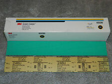 NEW 3M 02220 GREEN CORPS PRODUCTION PAPER ABRASIVE 100 SHEETS GRADE 80D 17.5""
