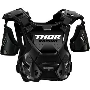 Thor Guardian Black Chest Protector for Motocross Offroad - Adult Sizes