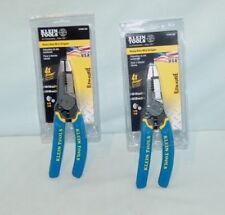 lot of 2 Klein Tools K12055 Heavy-Duty Wire Stripper