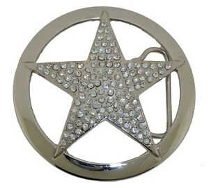 Lone Star Belt Buckle Texas Chief Sheriff Badge Silver Metal New Western Rodeo