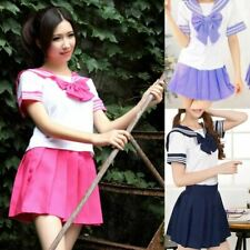 Japanese School Uniform Sexy Sailor Costumes 7 COLORS Anime Girls Dress Cosplay