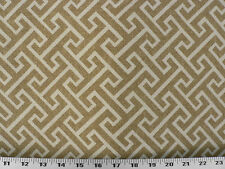 Drapery Upholstery Fabric Brushed Polyester Southwestern Geometric - Natural