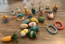 23 Wood Wooden Easter Tree Ornaments