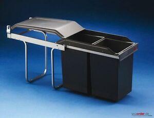 Hailo 2 x 15 Liter Mülltrennung Einbauabfallsammler