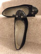 Clarks Cushion Soft Uk 4.5 Black Velvet Ballerinas Flats Women's Shoes Pumps