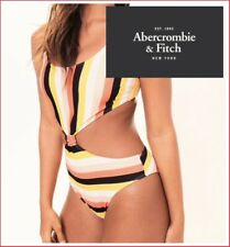 NWT Abercrombie and Fitch Woman's Sexy Striped Swimwear OnePiece Size S was $48