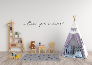 Once Upon A Time Quote Wall Art Decal Sticker Transfer Q185