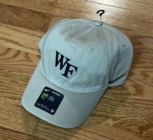 Men's Wake Forest Demon Deacons Nike Heritage 86 Logo Khaki Adjustable Hat NWT