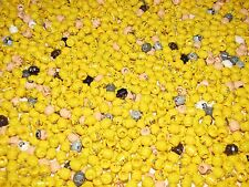 LEGO LOT OF 50 NEW MINIFIGURE HEADS TOWN CITY PIRATE NINJAGO FIGURE YELLOW FLESH