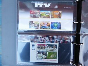GB Royal Mail 34 Presentation Pack Stamp Collection   Album 10 sleeves over £115